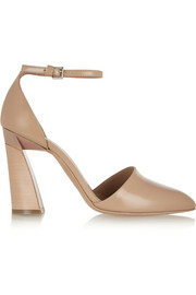 Marni Glossed-leather pumps