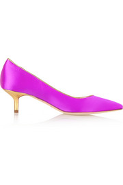 Brian Atwood Degas satin pumps