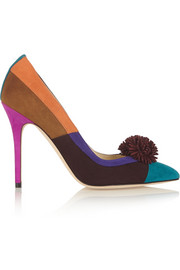 Brian Atwood Bea color-block suede pumps