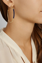 Aurélie Bidermann Soho gold-plated hoop earrings