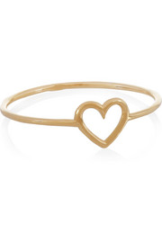 Heart 18-karat gold ring