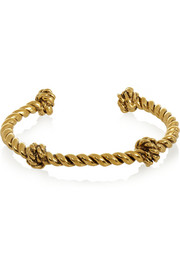 Aurélie Bidermann Knotted gold-plated cuff