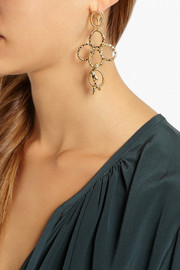Aurélie Bidermann Soho gold-plated snake earrings