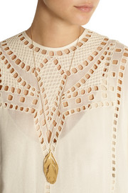 Aurélie Bidermann Organic Feathers gold necklace