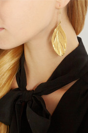 Aurélie Bidermann Gold-dipped feather earrings