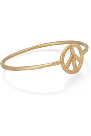 Peace 18-karat gold ring