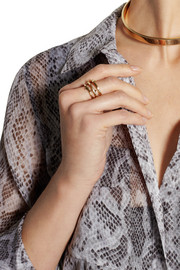 Aurélie Bidermann Rosebud gold-plated ring