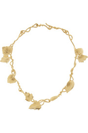 Aurélie Bidermann Tangerine gold-plated leaf necklace
