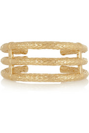 Aurélie Bidermann Lafayette gold-plated cuff