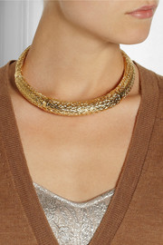 Aurélie Bidermann Lafayette gold-plated choker