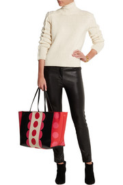 Carmen medium appliquéd leather tote