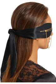 Agent Provocateur Zipped satin eye mask
