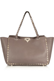 Valentino The Rockstud medium textured-leather trapeze bag