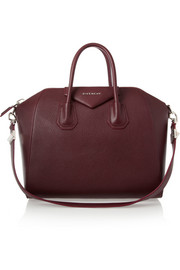 Givenchy Medium Antigona bag in burgundy textured-leather