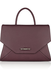 Givenchy Medium Obsedia bag in burgundy textured-leather