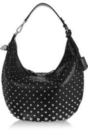 Alexander McQueen Padlock Hobo studded leather shoulder bag