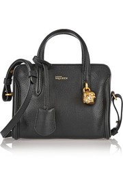 Alexander McQueen Padlock mini textured-leather tote