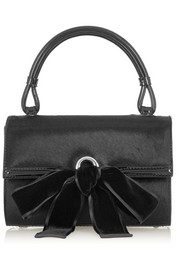 Alexander McQueen Bow-embellished calf hair tote