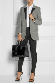 Saint Laurent Sac De Jour small paneled patent-leather tote