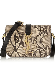 Saint Laurent Monogramme Sac Université python and leather shoulder bag