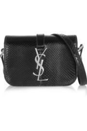 Saint Laurent Monogramme Sac Université small glossed-python shoulder bag