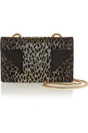 Saint Laurent Betty small leopard-jacquard shoulder bag