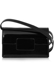 Lulu Bunny patent-leather shoulder bag