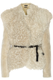 Isabel Marant Drew belted shearling jacket