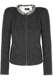 Huntley embellished herringbone-tweed jacket