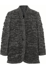 Sequin-embellished wool-blend jacket