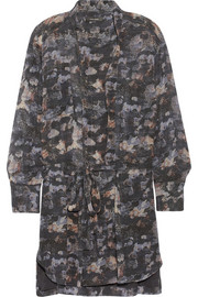 Isabel Marant Carla printed silk-georgette mini dress