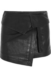 Isabel Marant Hutt leather wrap mini skirt