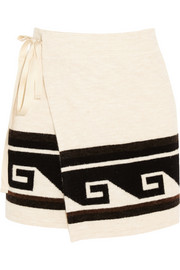 Isabel Marant Sienna knitted wrap mini skirt