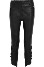 Isabel Marant Henley leather slim-fit pants