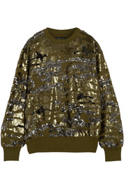 Isabel Marant Hamilton sequined cotton-blend jersey sweatshirt