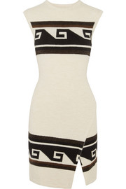 Isabel Marant Sandy wrap-effect knitted mini dress