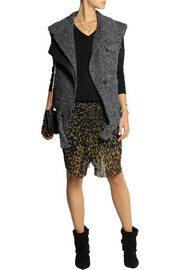 Isabel Marant Estelle wool-blend tweed gilet