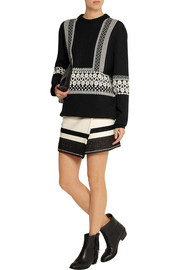 Isabel Marant Adelaide wool-blend wrap mini skirt