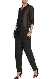 Isabel Marant Claudio silk-georgette tapered pants