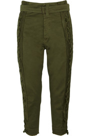 Jordan cotton-sateen tapered pants