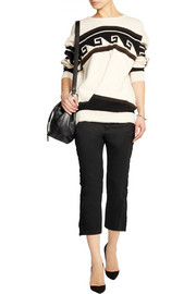Isabel Marant Jessie cropped cotton-sateen slim-leg pants