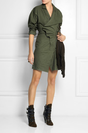 Isabel Marant Garrison cotton wrap mini dress