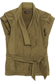 Jeff cotton-sateen vest