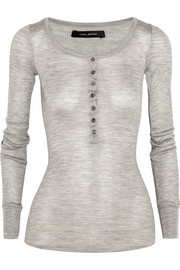 Isabel Marant Mamy ribbed silk-jersey top