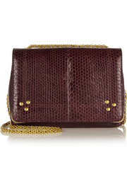 Jérôme Dreyfuss Eliot watersnake and leather shoulder bag