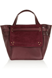 Vladimir snake-trimmed leather and suede tote