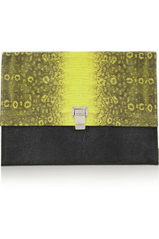Proenza Schouler The Lunch Bag lizard-effect leather clutch