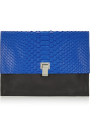 Proenza Schouler Lunch Bag python and leather clutch
