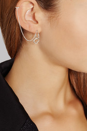 Pamela Love Mini-Machina silver earring and ear cuff
