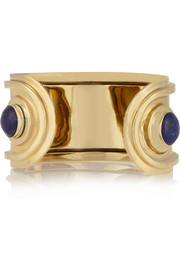 Pamela Love Oracle gold-tone, silver and lapis lazuli cuff
